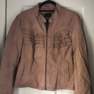 NWT Faux leather jacket.